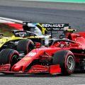 Charles Leclerc (Ferrari) and Daniel Ricciardo (Renault)
