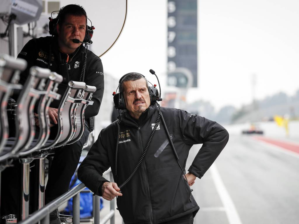 Haas team principal Guenther Steiner during pre-season testing