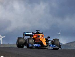 Carlos Sainz in his McLaren during FP1 for the Portuguese Grand Prix