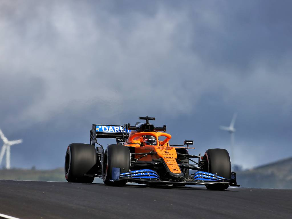 Carlos Sainz in his McLaren during FP1 for the Portuguese Grand Prix