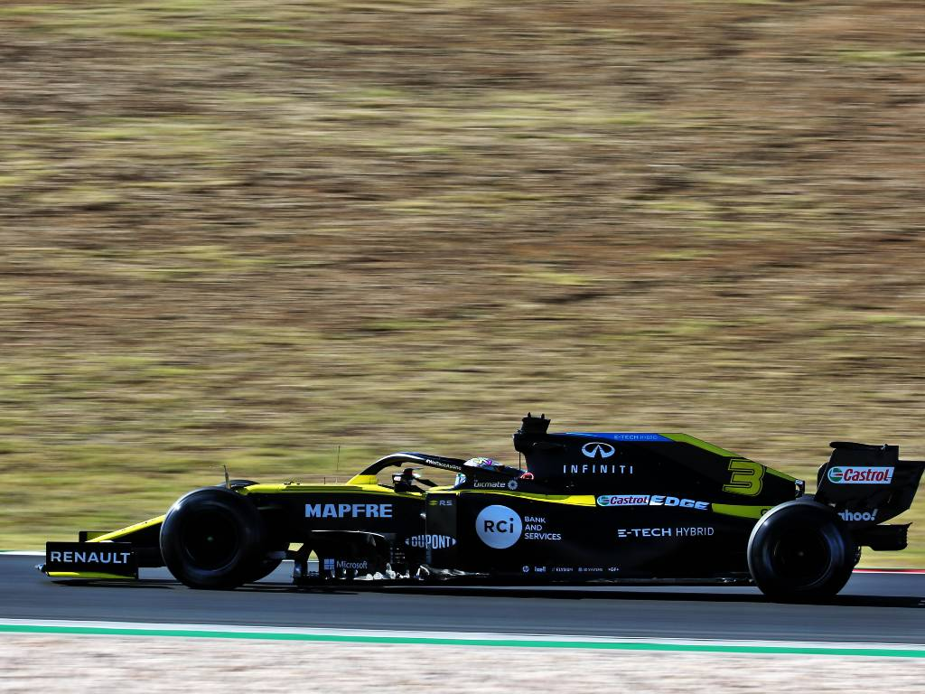 Daniel Ricciardo (Renault) during practice for the Portuguese Grand Prix
