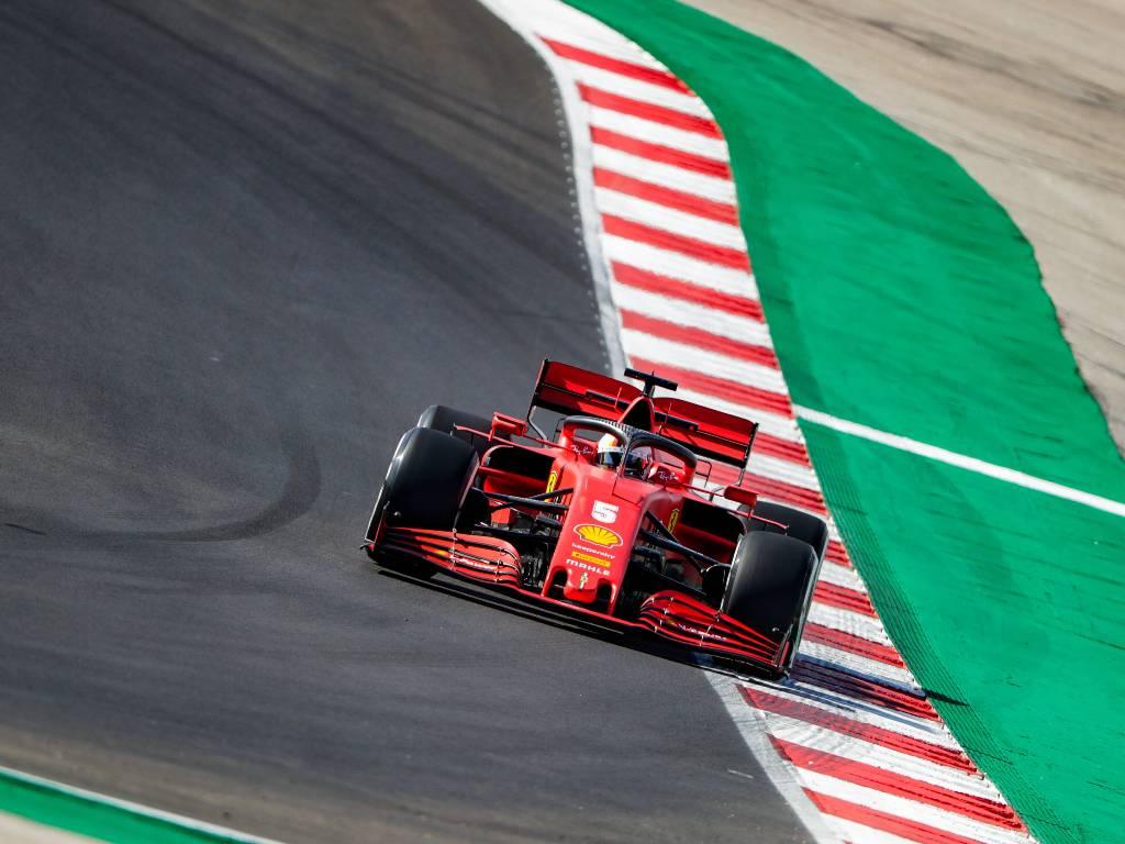 Sebastian Vettel (Ferrari) during Portuguese Grand Prix practice