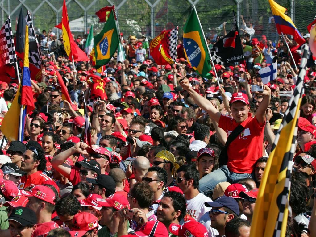 Formula 1 fans at Imola