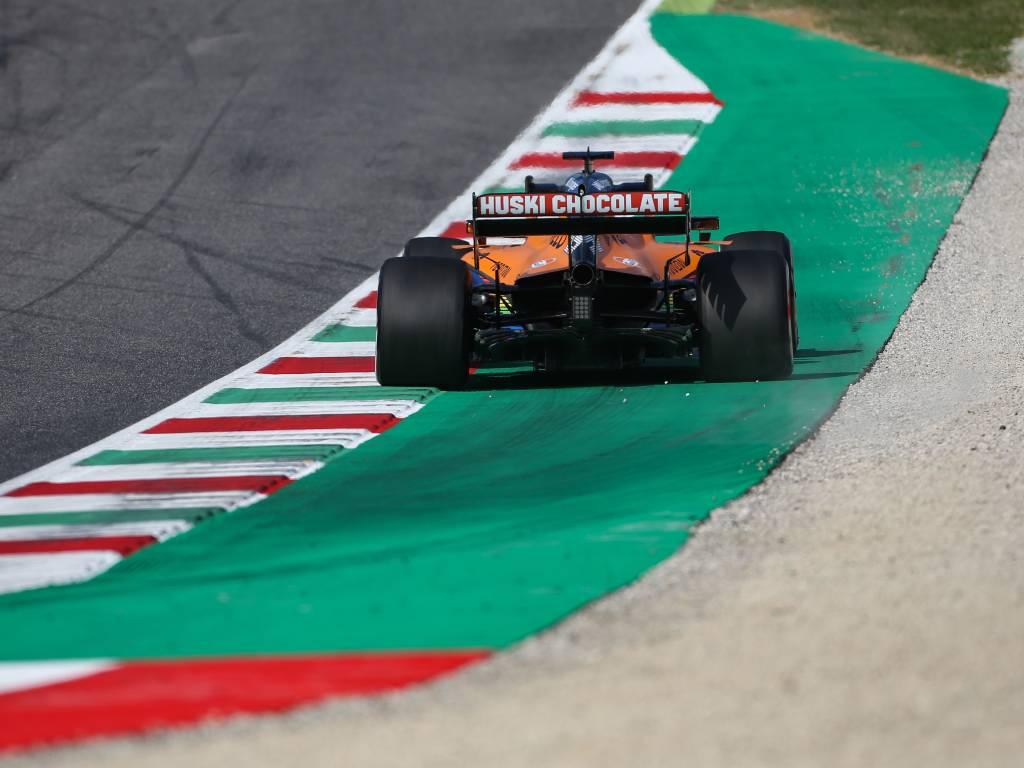 Carlos Sainz, McLaren, in action at Mugello