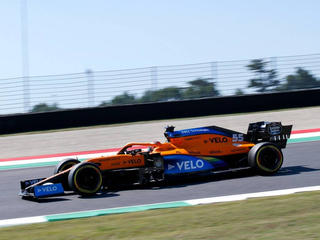Carlos Sainz, McLaren, in action at Mugello