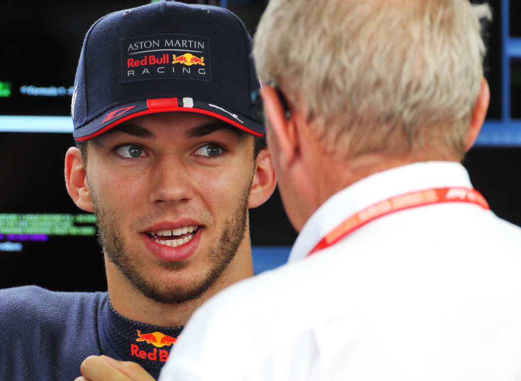 Pierre Gasly and Helmut Marko