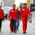 Sebastian Vettel-Charles Leclerc-Mattia-Binotto-PA