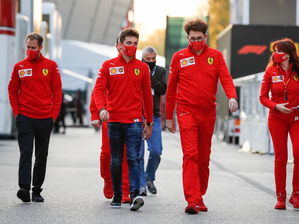 Sebastian-Vettel-Charles-Leclerc-Mattia-Binotto-PA