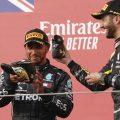 Lewis Hamilton and Daniel Ricciardo shoey Imola