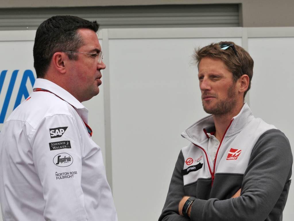 Eric Boullier Romain Grosjean