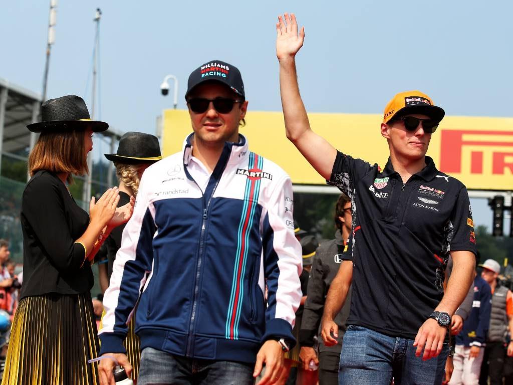 Felipe Massa and Max Verstappen for mailbox