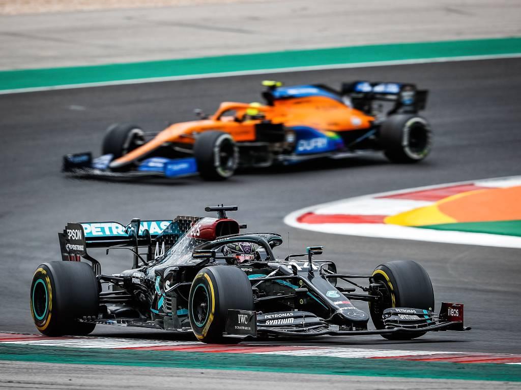 Lewis Hamilton (Mercedes), Lando Norris (McLaren)