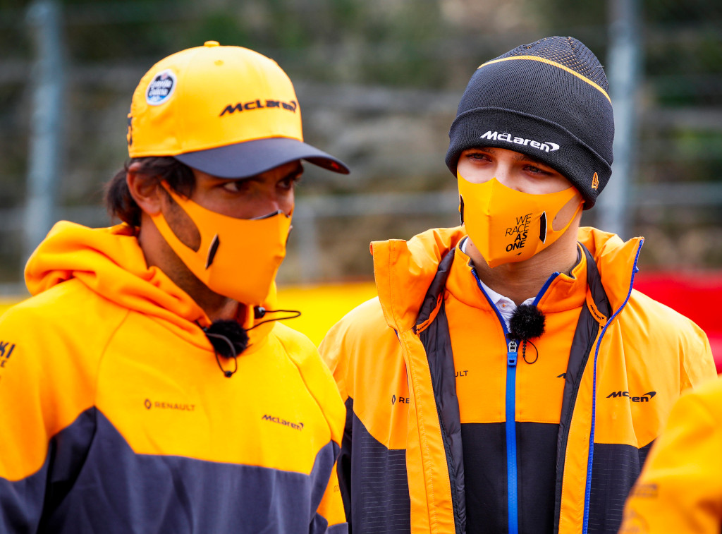 Carlos Sainz and Lando Norris