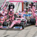 Sergio Perez Racing Point pit stop