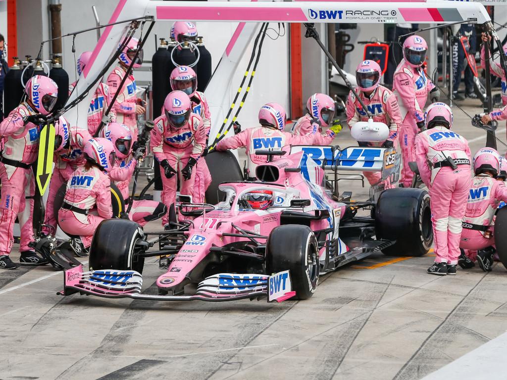 Sergio Perez Racing Point pit stop