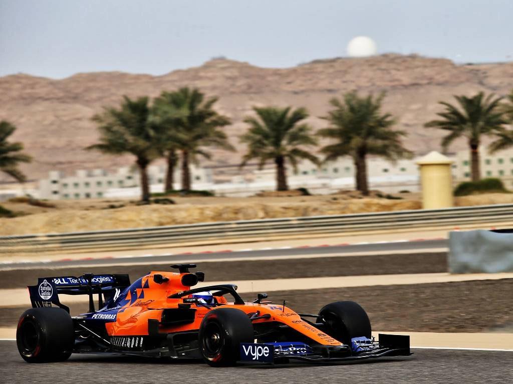 Fernando Alonso testing for McLaren at Bahrain in 2019