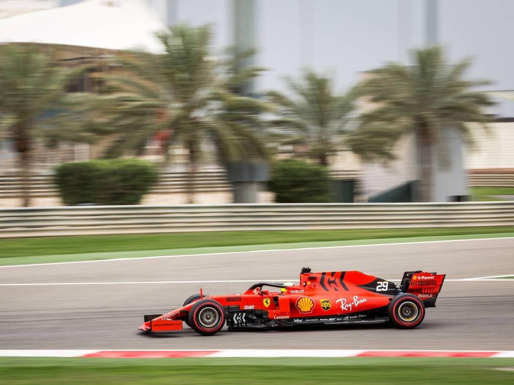Mick Schumacher testing for Ferrari at Bahrain in 2019