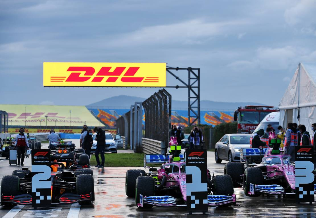 Turkish Grand Prix qualifying - Lance Stroll (Racing Point), Max Verstappen (Red Bull). Sergio Perez (Racing Point)