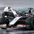 Nicholas Latifi and Romain Grosjean wet