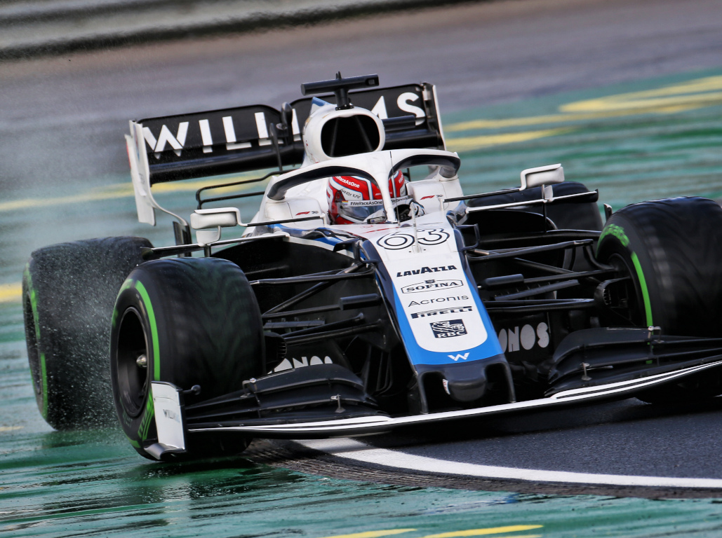 George Russell intermediate tyres