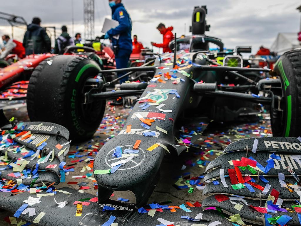 Mercedes W11 celebration
