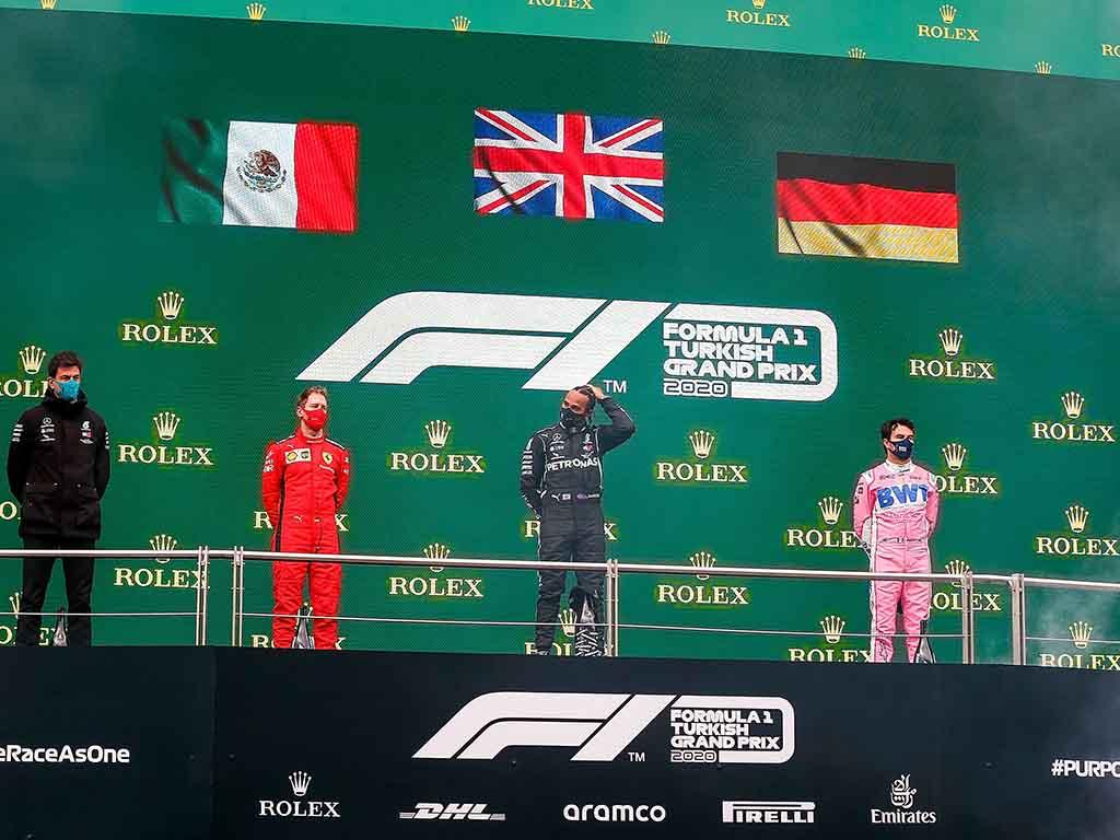 Turkish Grand Prix podium