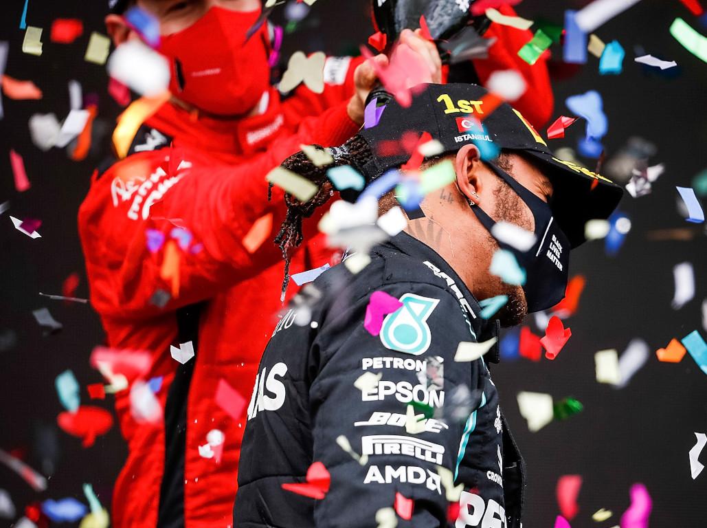 Lewis Hamilton celebrations