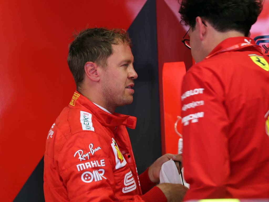 Sebastian Vettel and Mattia Binotto