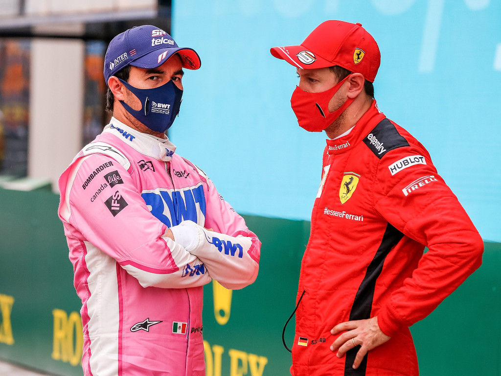Sergio Perez Sebastian Vettel