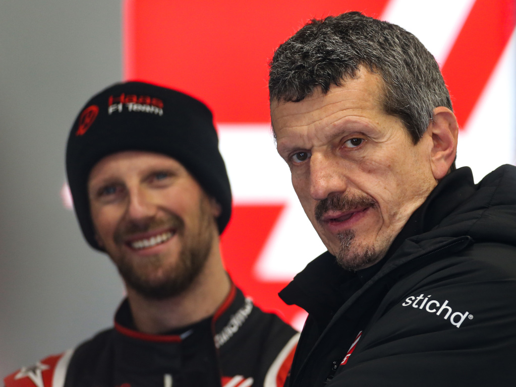 Guenther Steiner and Romain Grosjean