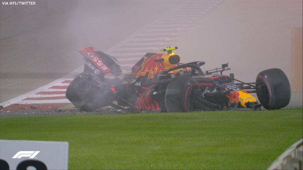 Alex Albon Bahrain crash