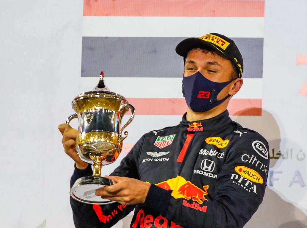 Alexander Albon Bahrain trophy