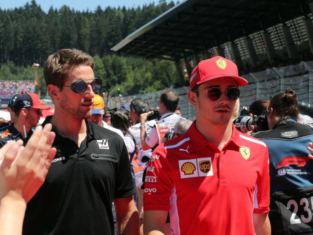 Romain Grosjean Charles Leclerc