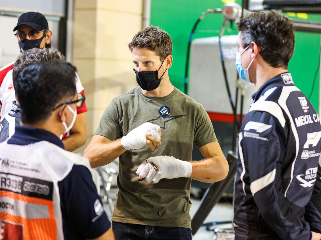 Romain Grosjean injuries