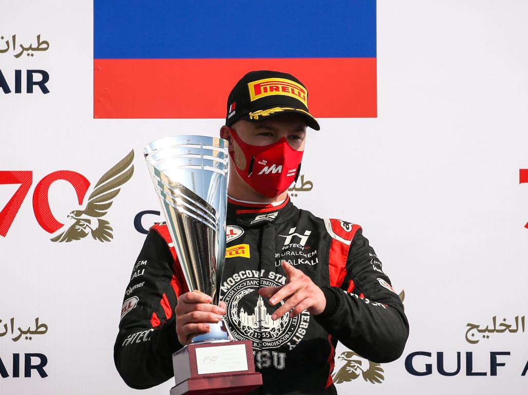 Nikita Mazepin Formula 2 podium