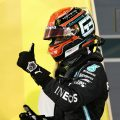 George Russell Mercedes thumb up