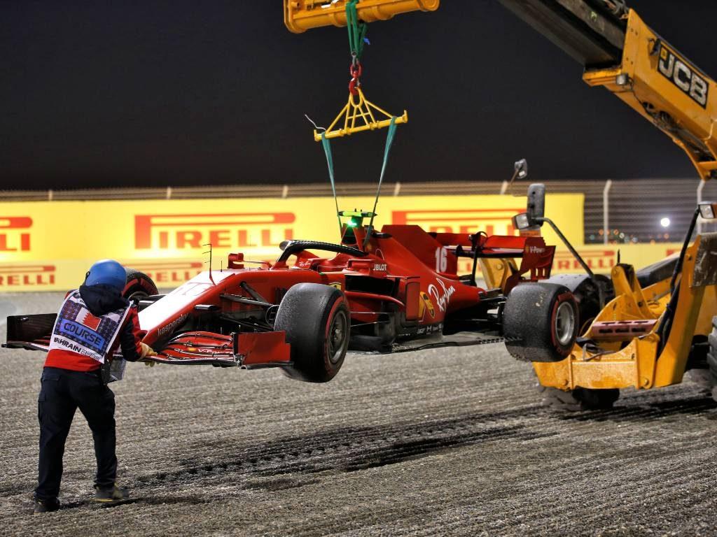 Charles Leclerc's Ferrari, Sakhir Grand Prix