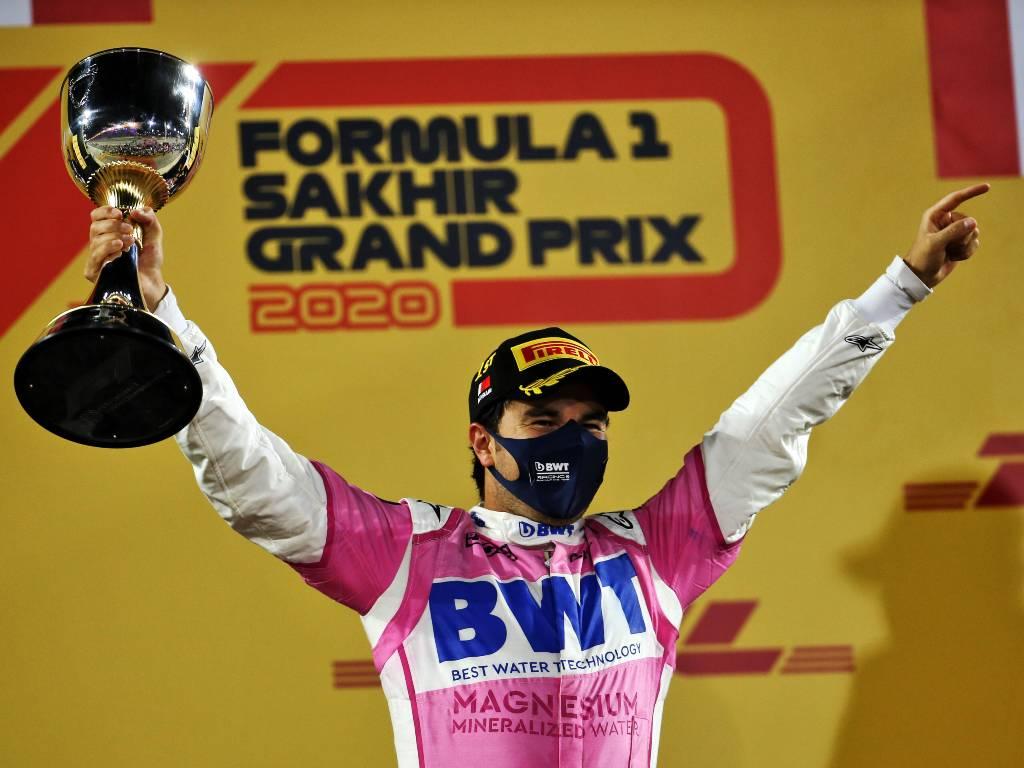 Sergio Perez, Sakhir Grand Prix podium