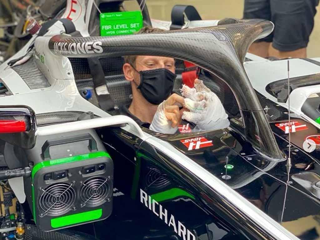 Romain Grosjean cockpit
