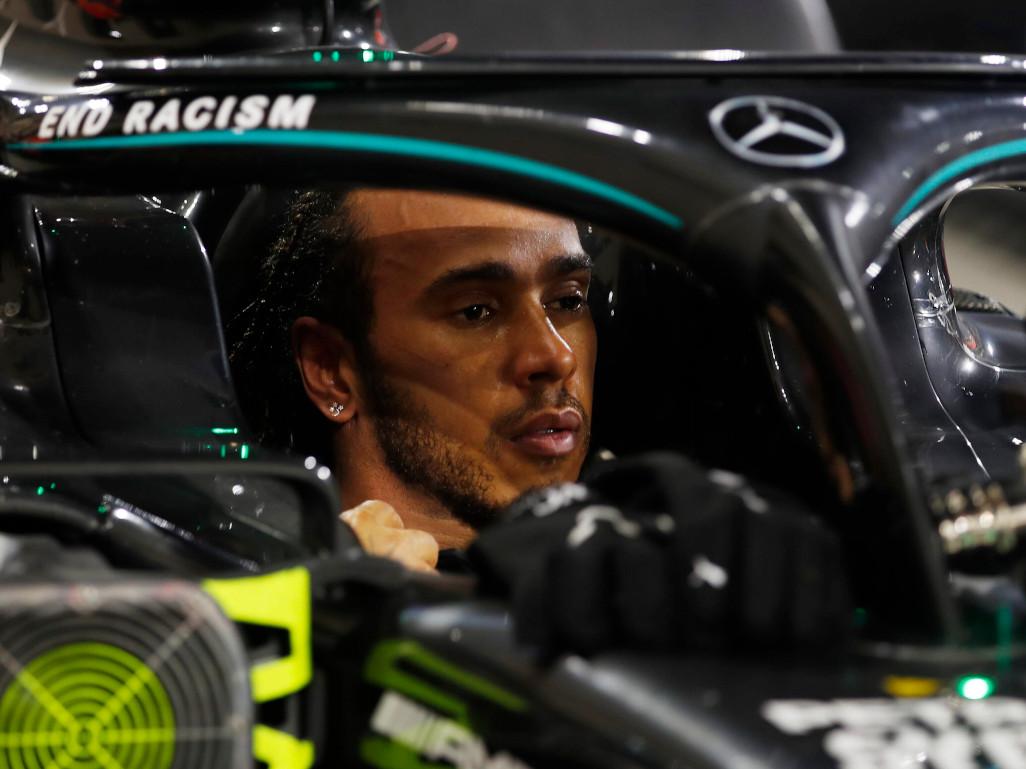 Lewis Hamilton Mercedes cockpit