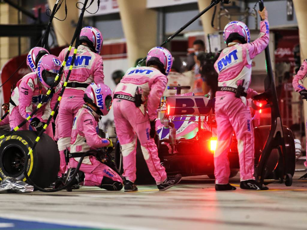 Sergio Perez Racing Point pit-stop Bahrain