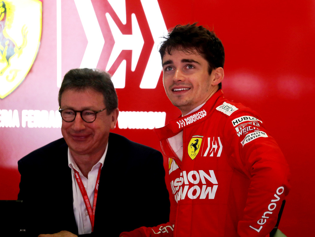 Louis Camilleri and Charles Leclerc