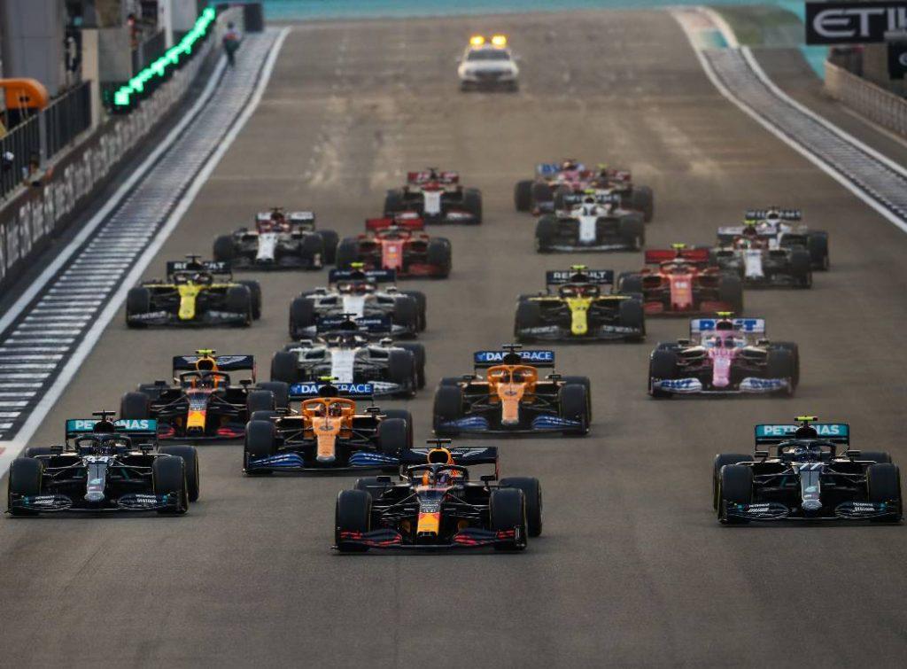 2020 Abu Dhabi Grand Prix start