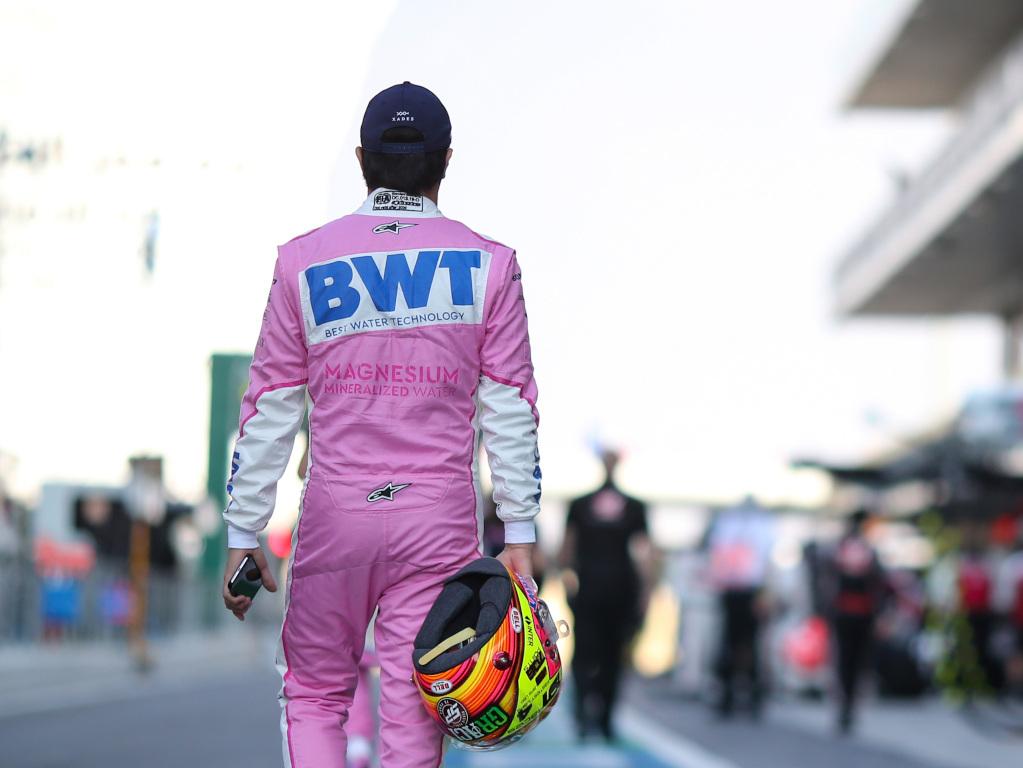 Sergio Perez walking away