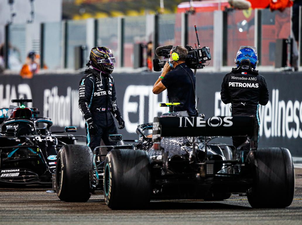 Lewis Hamilton and Valtteri Bottas W11