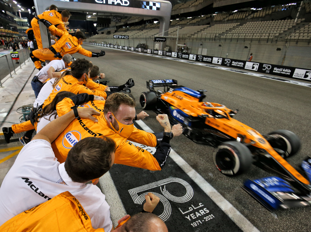 McLaren celebrate