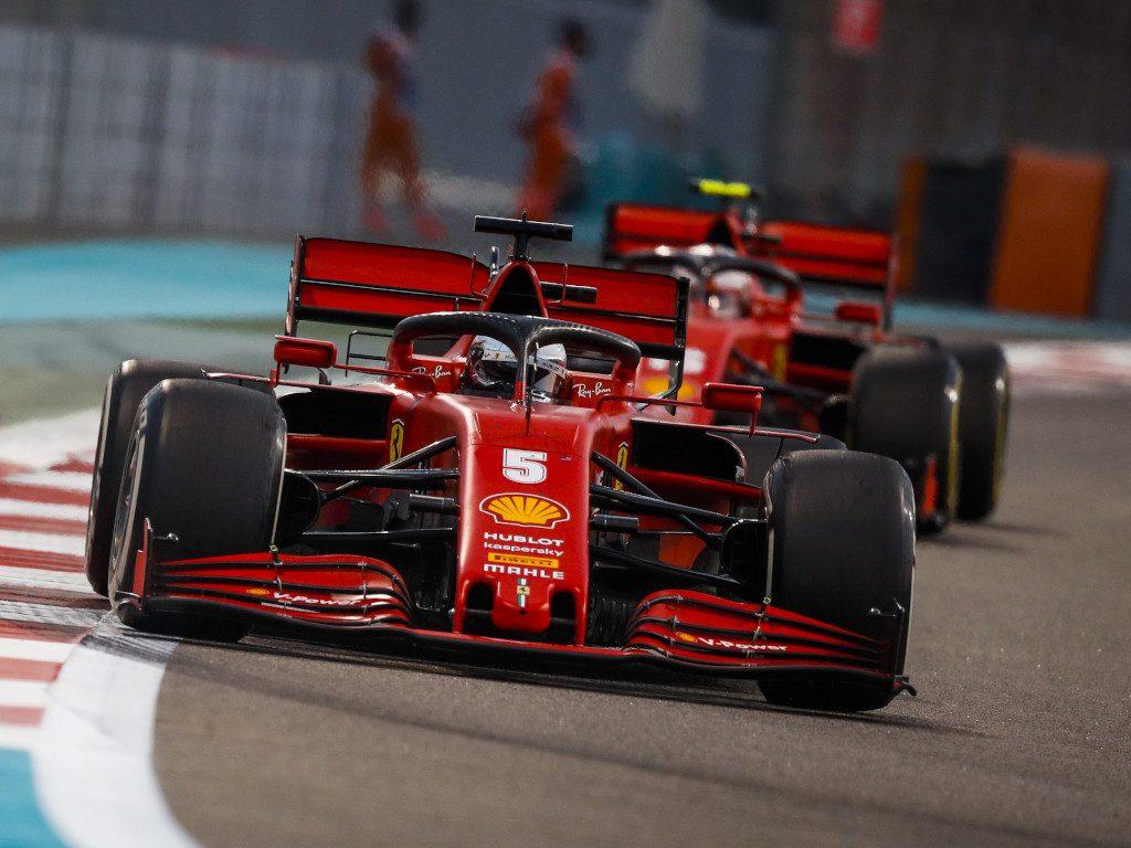 Ferrari Sebastian Vettel leads Charles Leclerc
