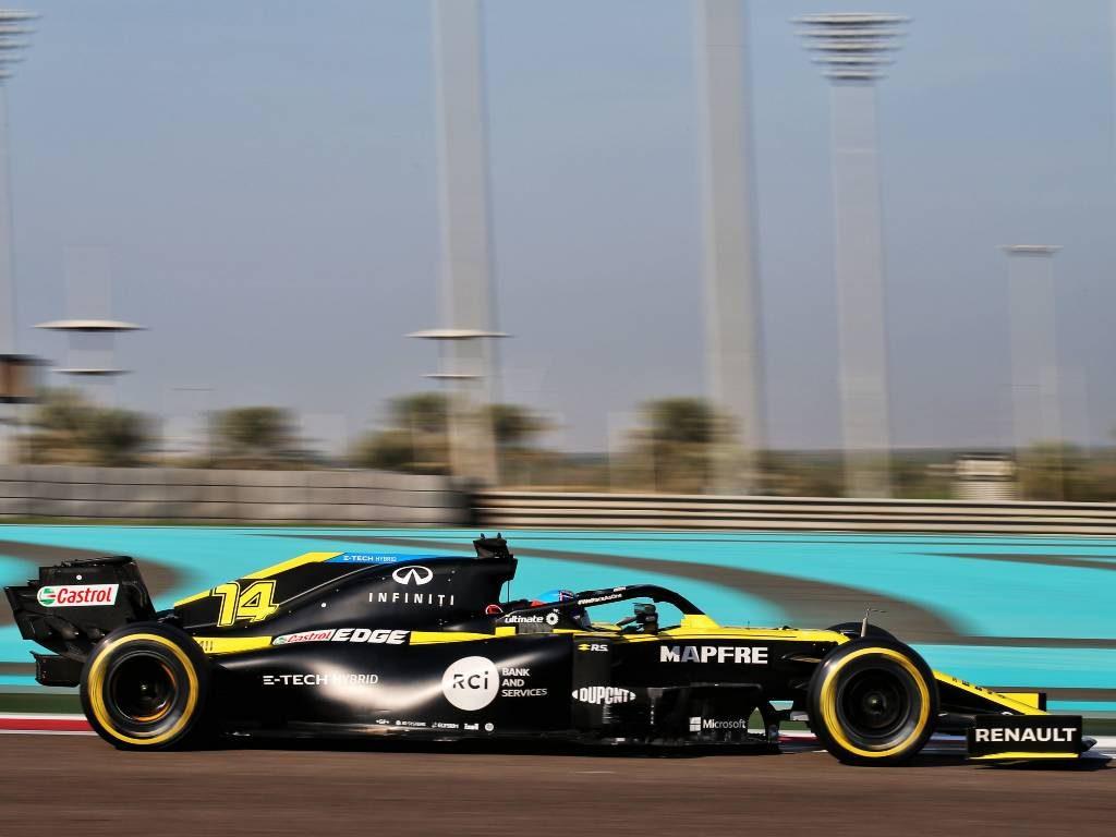 Fernando Alonso, Renault, Abu Dhabi post-season test