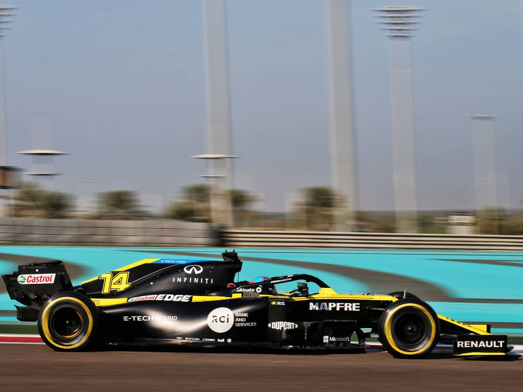 Fernando Alonso, Renault, Abu Dhabi post-season test