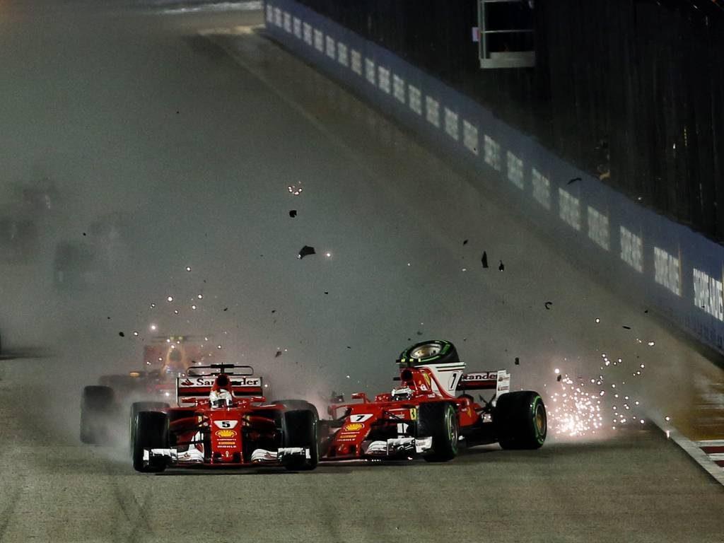 Sebastian Vettel, Kimi Raikkonen, 2017 Singapore Grand Prix
